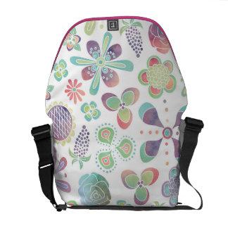 Boho Watercolor Floral Messenger Bag