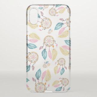 Boho  watercolor pastel dreamcatcher pattern iPhone x case
