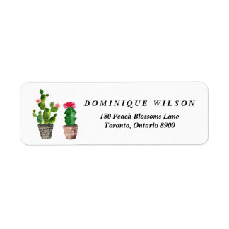 Boho Watercolor Succulents Customizable Return