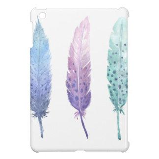 Boho Watercolour Feather Trio Cover For The iPad Mini