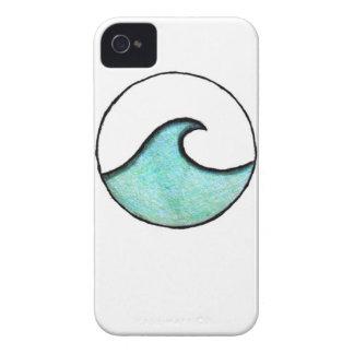 Boho Wave Painting iPhone 4 Case-Mate Case
