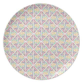 Boho white plate