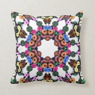 Boho Wooden Beads Throw Pillow