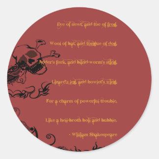 Boil & Trouble Classic Round Sticker