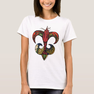 Boil with a Crawfish Fleur de Lis T-Shirt