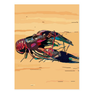 Boiled Crawfish on Wood Postcard