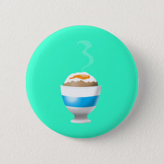Boiled Egg 2 Inch Round Button