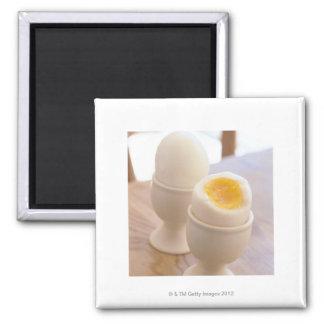Boiled Egg Square Magnet