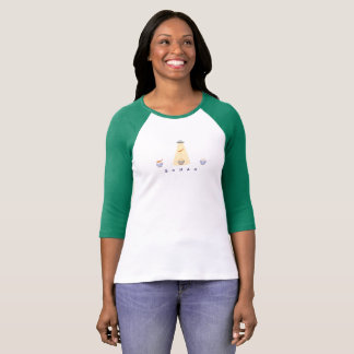 Boiled rice three-quarter sleeve T T-Shirt