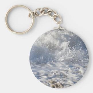 Boiling sea (Sennen beach nr Lands End) Keychain