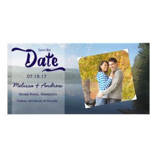 Bois de Northren épousant des économies la date Photocarte Customisée