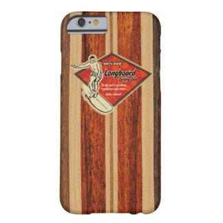Bois hawaïen de Faux de planche de surf de Waimea Coque iPhone 6 Barely There
