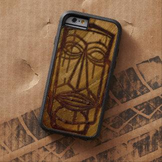 Bois hawaïen de Koa de Faux de Hapalua Tiki Coque Tough Xtreme iPhone 6