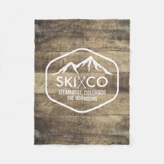 Bois rustique du Colorado de montagne vintage de