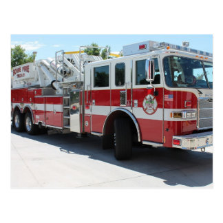Boise Fire Department Truck 6 Postcard