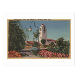 Boise, ID - View of Union Pacific Postcard