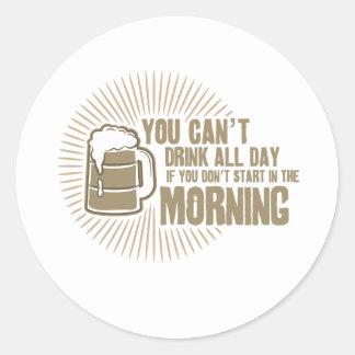 boisson biseautée toute la journée si vous ne adhésifs ronds