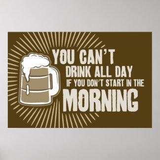 boisson biseautée toute la journée si vous ne comm posters