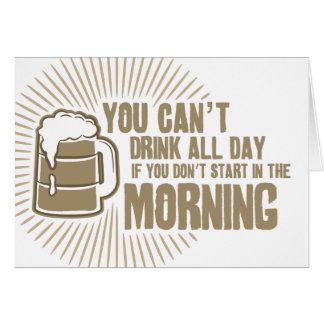 boisson biseautée toute la journée si vous ne comm carte de vœux