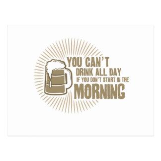 boisson biseautée toute la journée si vous ne comm carte postale