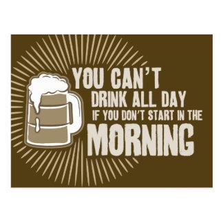 boisson biseautée toute la journée si vous ne comm cartes postales