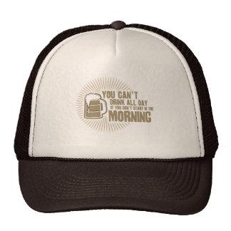 boisson biseautée toute la journée si vous ne comm casquettes