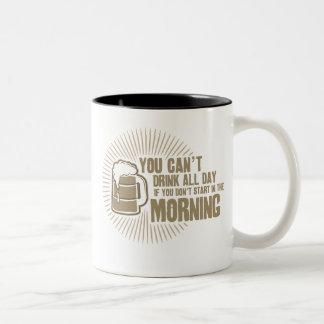 boisson biseautée toute la journée si vous ne mug bicolore