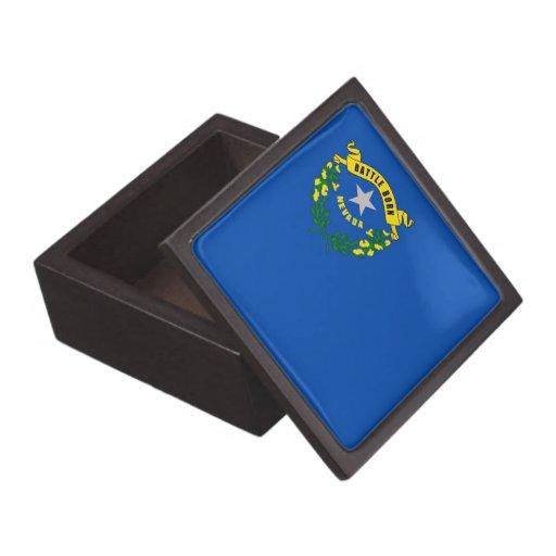 Boîte-cadeau de prime de drapeau d'état du Nevada Boîte À Bijoux De Première Qualité
