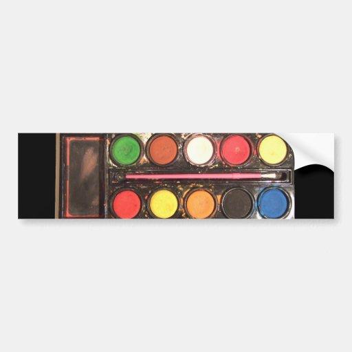 Boîte de couleur colorée de la peinture de l'artis adhésif pour voiture