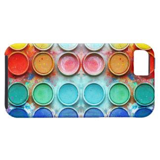 Boîte de couleur de peinture d'amusement étuis iPhone 5