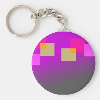 Boîte de couleur porte-clé rond