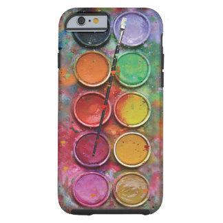 Boîte de peintures d'aquarelle coque tough iPhone 6