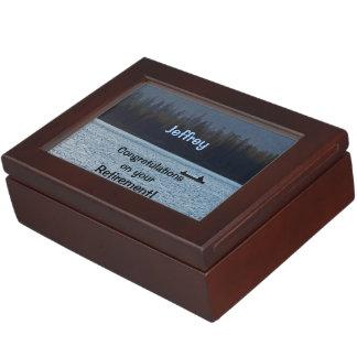 Boîte de souvenir félicitations sur la retraite boîte à souvenirs