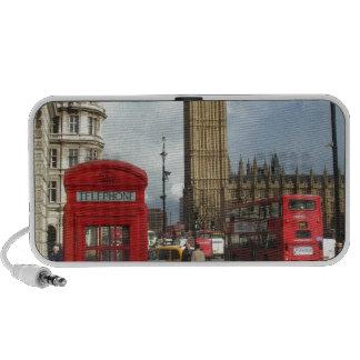 Boîte de téléphone de Londres et Big Ben (St.K) Haut-parleur iPod