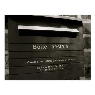 Boite postale postcard