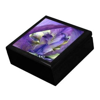 Boîte pourpre de bibelot de boîte à bijoux de fleu