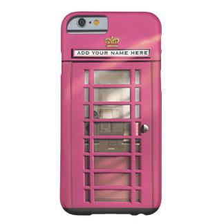 Boîte rose Girly drôle de téléphone des Anglais Coque iPhone 6 Barely There