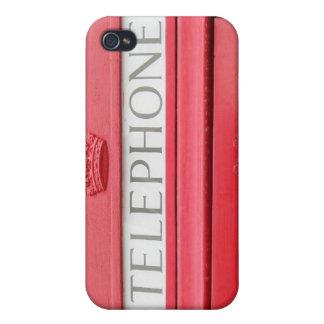 Boîte télé- rouge britannique étuis iPhone 4