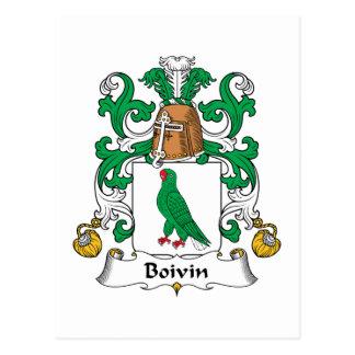 Boivin Family Crest Postcard