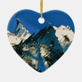 Bojnice 1 ceramic heart ornament