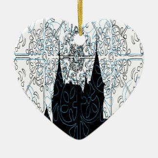 Bojnice Ceramic Heart Ornament