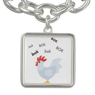 Bok Chicken Cute Emoji Charm Bracelet