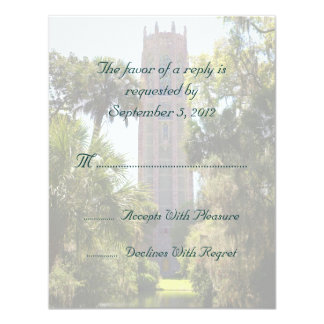 Bok Tower Wedding RSVP Personalized Card