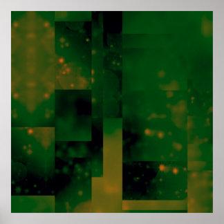Bokeh 01, green posters