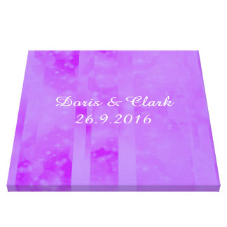 Bokeh 02 soft  lilac gallery wrapped canvas