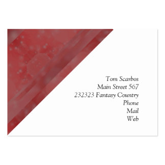 Bokeh 02 soft red business card template