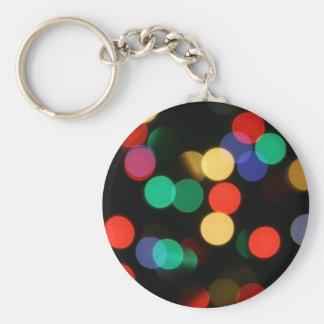 Bokeh #6 Cool bokeh photographic colourful effect Porte-clé Rond