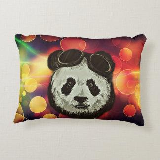 Bokeh Art with Panda Decorative Pillow