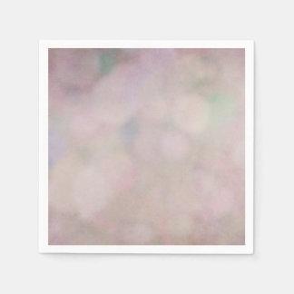 Bokeh Background Purple Mauve Texture Design Disposable Napkins