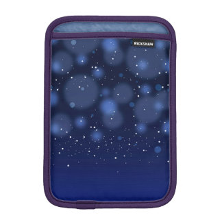 Bokeh Blue Abstract Starry Sky iPad Mini Sleeve